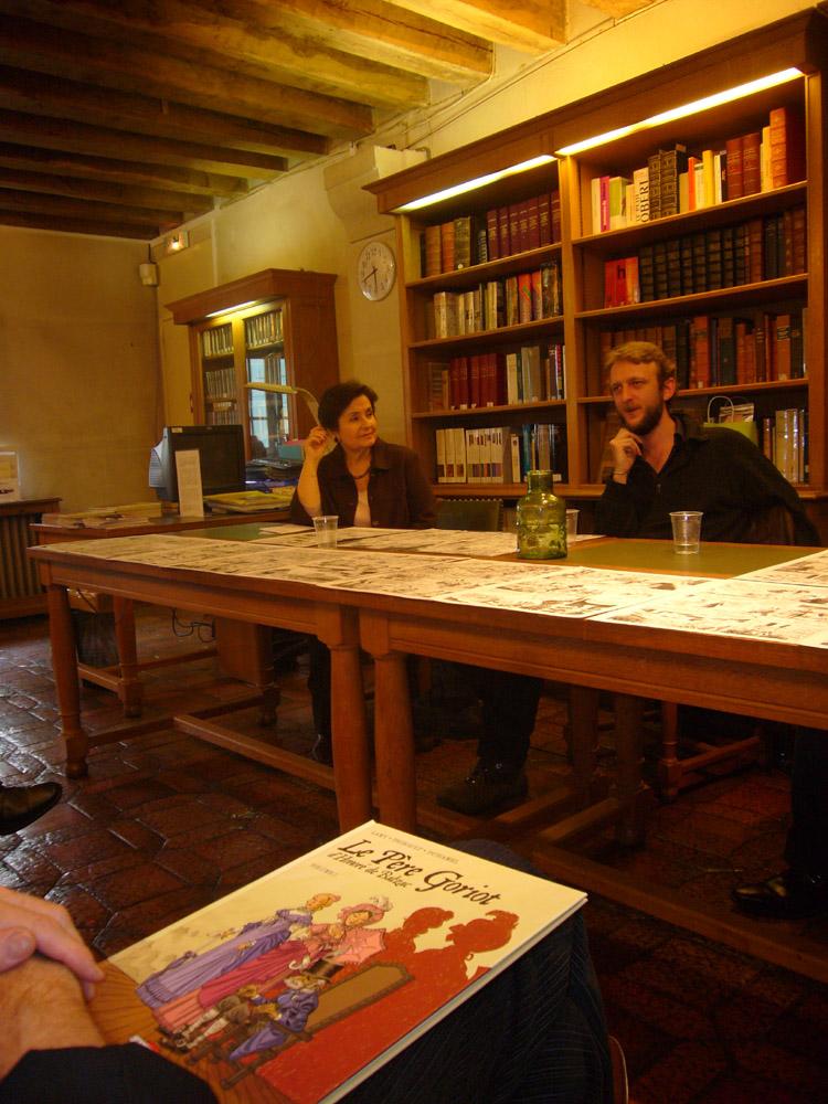 Anne-Marie Baron, Bruno Duhamel et Philippe Thirault à la Maison de Balzac